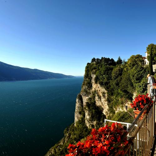 Balconies overlooking Lake Garda
